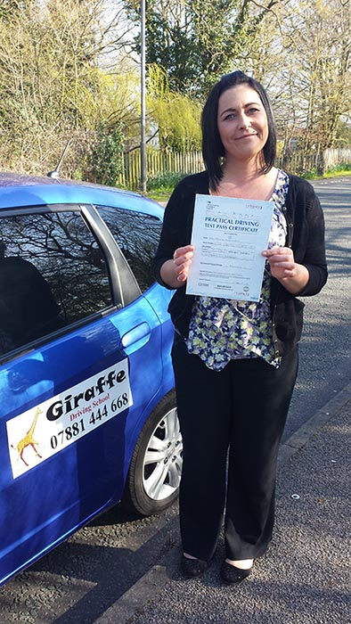 pass your driving test with giraffe driving school