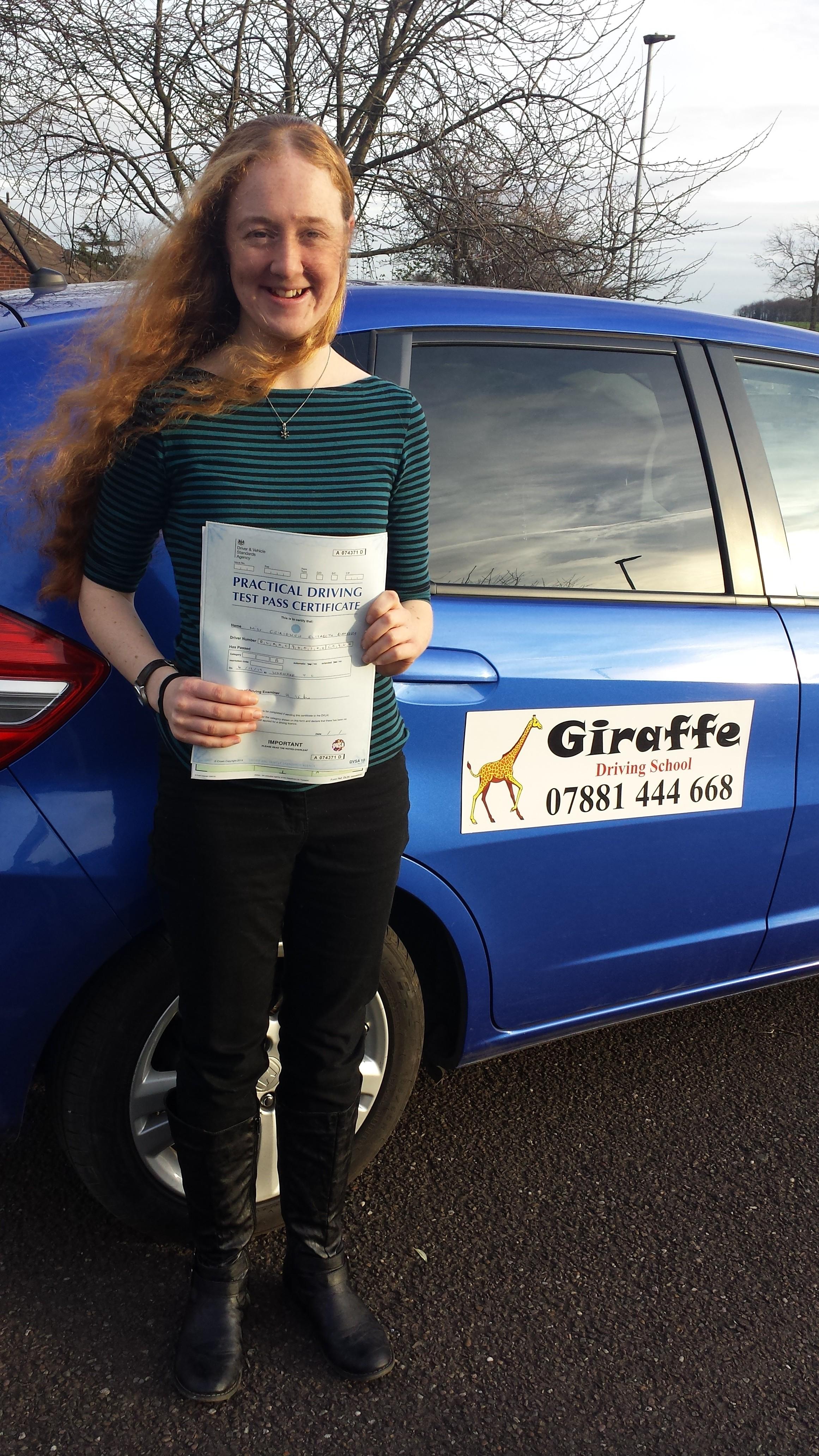 another pass for Giraffe driving school