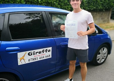 another pass with giraffe driving school
