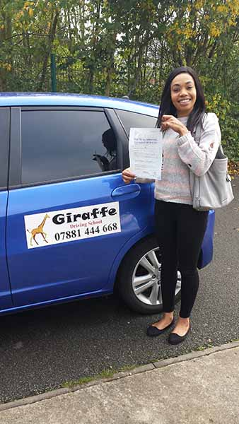 charmaine passed her test