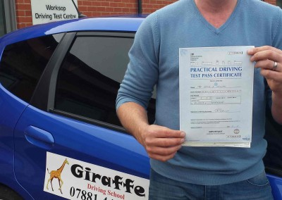 another pass for giraffe Driving School
