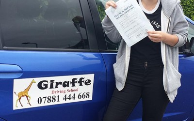 dervia - another pass for giraffe driving school sheffield