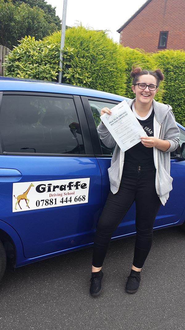 dervia - another pass for giraffe driving school sheffield