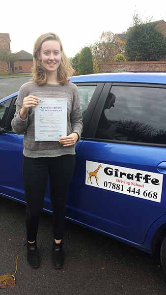 georgia-learn-to-drive-with-giraffe-driving-school-rotherham