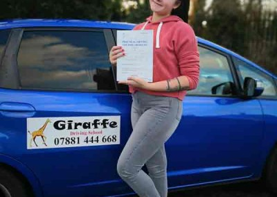 Another pass for giraffe driving school rotherham
