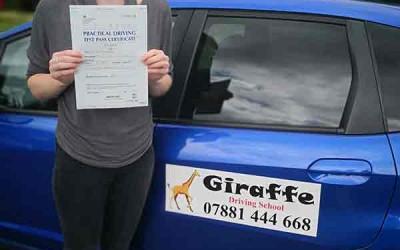 giraffe driving school Kiveton Wales Sheffield