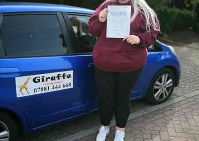 giraffe driving school Kiveton Wales Sheffield